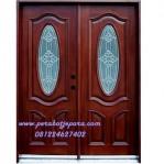 Kusen Pintu Double Minimalis Modern Kayu Jati