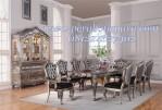 Set Meja Makan Ukir Mewah Klasik Eropa