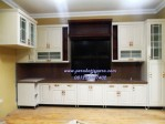 Kitchen Set Duco Minimalis Kayu Mahogany
