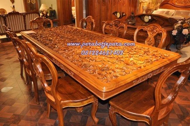 Meja Makan Set Kayu Jati Di Bali