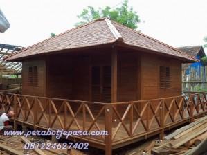 rumah kayu minimalis jepara murah terbau jati glugu