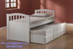 Tempat Tidur Sorong Single Putih