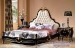 Set Kamar Tidur Utama Klasik Black Gold French Style