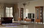 Bufet Tv Terbaru Model Klasik Elegan Kayu Jati