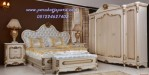 Tempat Tidur Set Pengantin Mewah Model Klasik Ukir