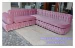 Kursi Sofa Sudut Pink Malta