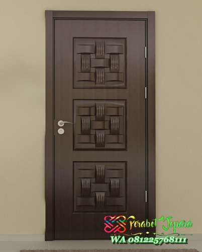 Pintu Rumah Unik Model Ketupat Kayu Solid KPJ-15 Terbaru