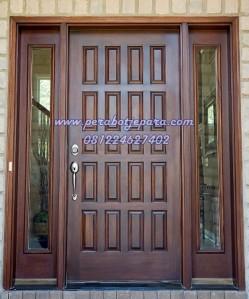 Pintu Rumah Utama 2 Jendela Kaca