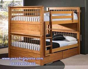 Tempat Tidur Susun Jati Mebel Jepara 120×200 cm