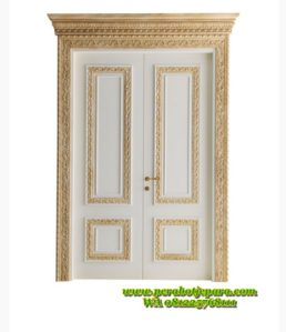 Pintu Utama Double Ukir Desain Mewah KPJ-325 Terbaru