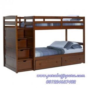 tempat tidur anak 2 susun tingkat minimalis murah perabot