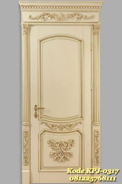pintu rumah single gaya eropa KPJ - 0317
