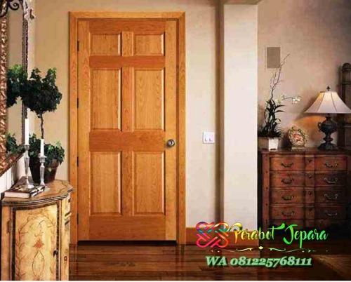 Model Pintu kamar tidur kayu jati minimalis