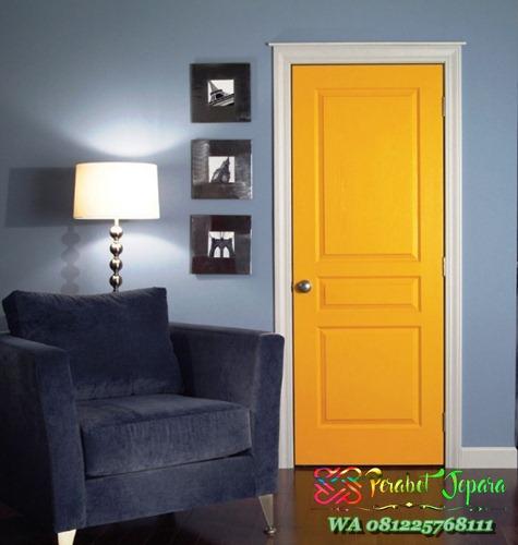 Model Pintu kamar tidur minimalis kuning