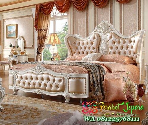 jual set kamar tidur pengantin mewah ukiran jepara