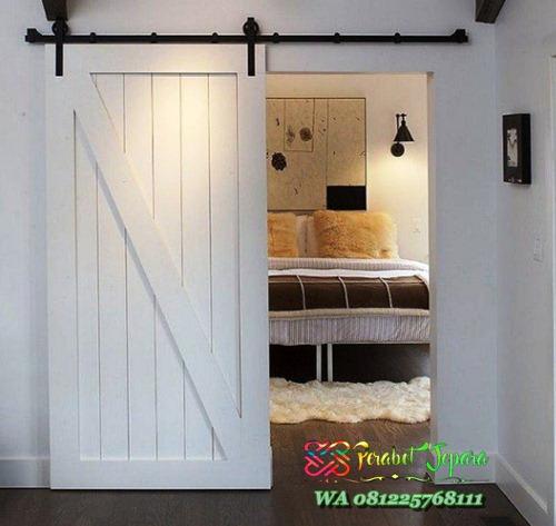 model pintu kamar tidur geser modern cat duco