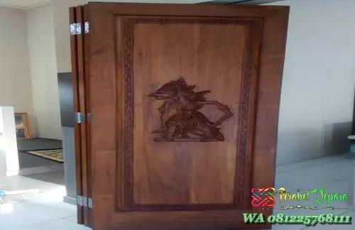 pintu lipat kayu jati
