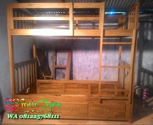 Tempat tidur tingkat kayu jati jepara