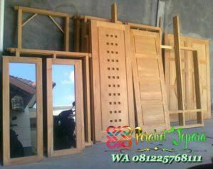 Set Kusen Pintu Jendela Jati Untuk Rumah Minimalis