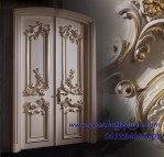 Daun Pintu Kupu Tarung Klasik Gold Ukir Jepara