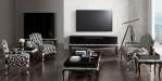 Desain Kursi Tamu Terbaru Furniture Klasik Mewah Black Silver