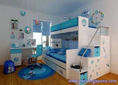 Tempat tidur anak susun doraemon modern