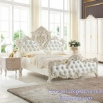 Model Set Kamar Tidur Royal Putih Duco Klasik Ukir Terbaru