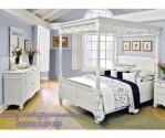 Desain Kamar Tidur Minimalis Kanopi Warna Putih