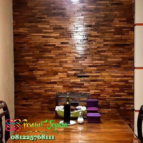 Rumah Kayu Mewah: Wallpaper Dinding Kayu Jati