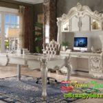 Meja Kantor Gaya Amerika Elegan Putih Untuk Rumah Modern